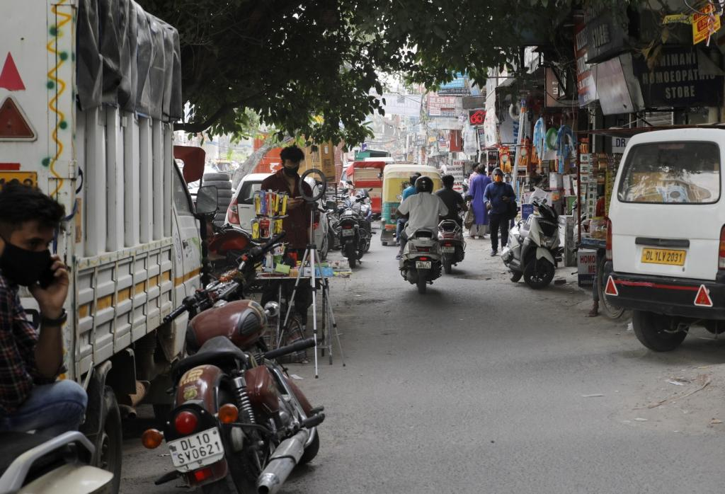 The congested Laxmi Nagar area in East Delhi was redolent of pre-pandemic times, bustling with people and roadside vendors on June 8, 2021. Not many displayed COVID-19 appropriate behaviour: Masks were off and social distancing didn't seem possible in the narrow, crowded lanes. The city recorded over 300 cases in the last 24 hours.