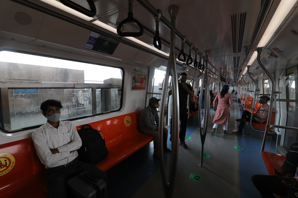 Delhi resumed metro railway service with a 50 per cent seating limit. At Mayur Vihar Phase I metro station, few commuters got on the trains on June 8 (Tuesday), making it easy to maintain social distancing. The positivity rate in Delhi increased to 0.44 per cent on Tuesday from 0.36 per cent on Monday, according to state health bulletins.