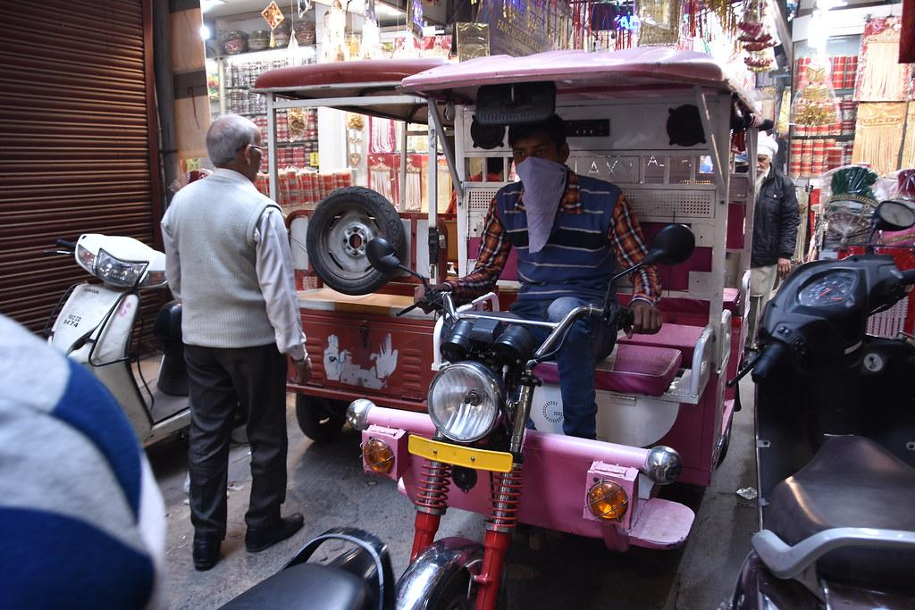 India is home to 1.5 million electric rickshaws as compared to the 400,000 electric cars and electric two-wheelers combined. Photo: Flickr