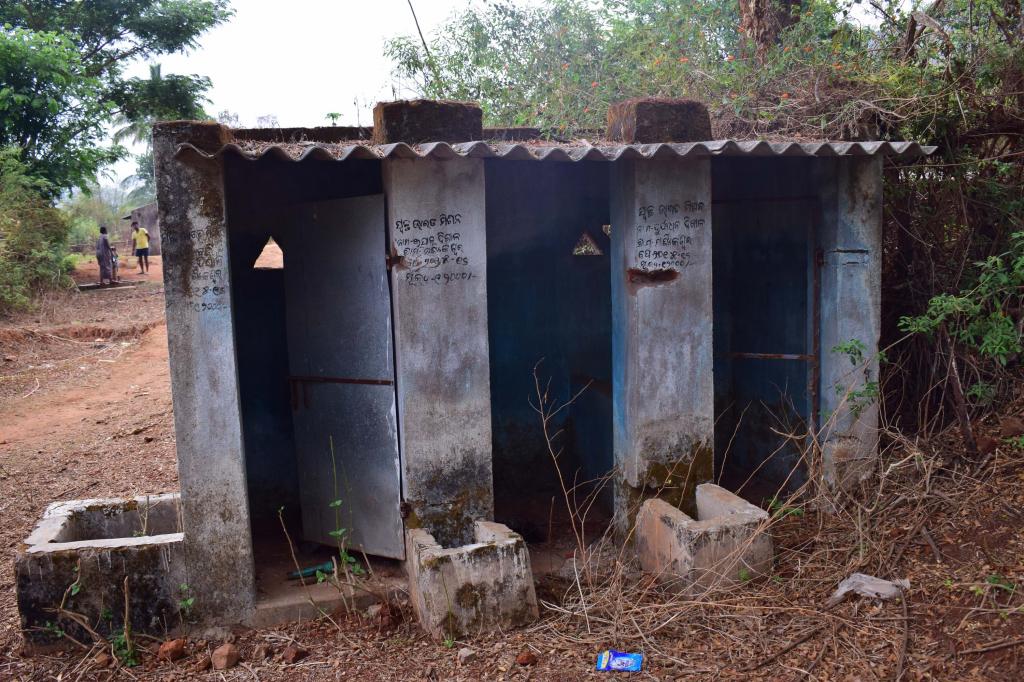 Incomplete toilets in Odisha's Kandhamal district. Villagers claimed the toilets had no water supply. Photo: Priya Ranjan Sahu