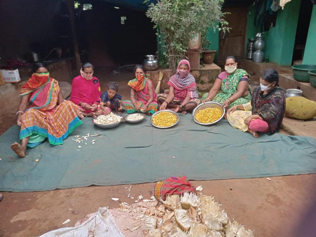 He added that the organisation formed around 20 producer groups among 1,000 tribal women  and provided Rs 2.04 lakh to each group to procure vessels, weighing machines, packaging materials, etc. The jackfruit chips fetch Rs 350 per kilogram; one kg of jackfruit chips can provide at least Rs 100 profit to the tribal  women. Photo: Ashis Senapati
