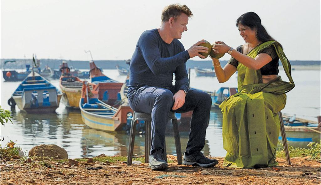 In Season 2 of Uncharted, chef Gordon Ramsay learns of Kerala's relationship with spices and coconut (Photo courtesy: National Geographic)
