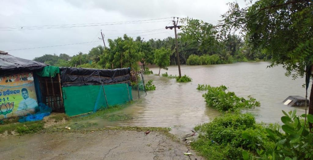 A flood-affected district in Kendrapara district, Odisha. Photo: Ashis Senapati