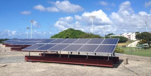 Solar power at the University of the West Indies campus, Barbados 