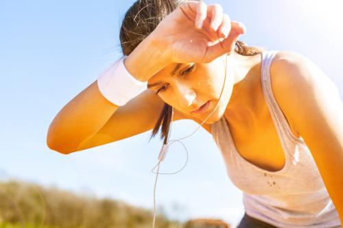 Per litre of sweat produced, we can dump around half a million calories of heat from our bodies (Credit: iStock Images)