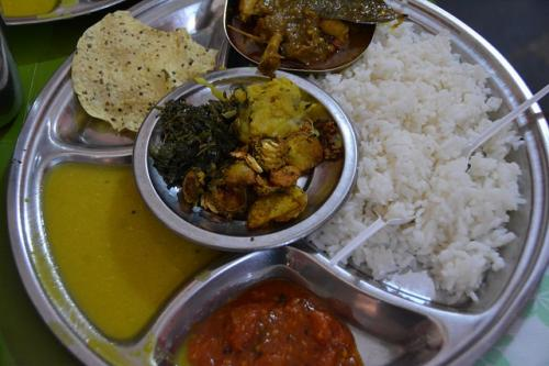 Saag bhajaa (cooked green leaves) is a regular feature on the menu of Odias