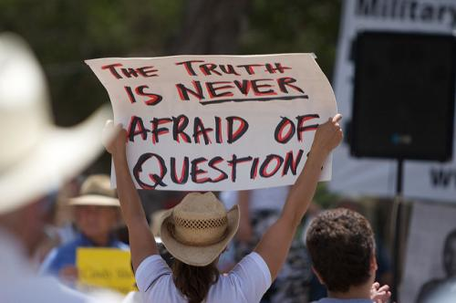 People across the world have taken to the streets, taking a political stand (Credit: Greg Heartsfield/Flickr)