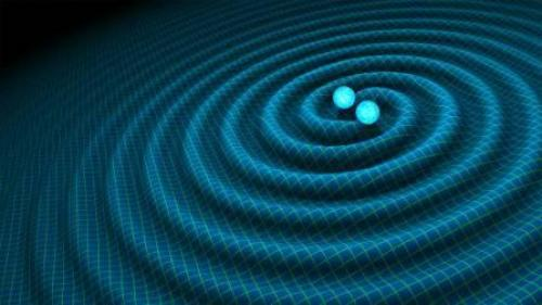 The discovery of gravitational waves was the end of a century-long quest to prove Einstein's final prediction that these gravitational waves are real. Here is an artist's impression of gravitational waves generated by binary neutron stars