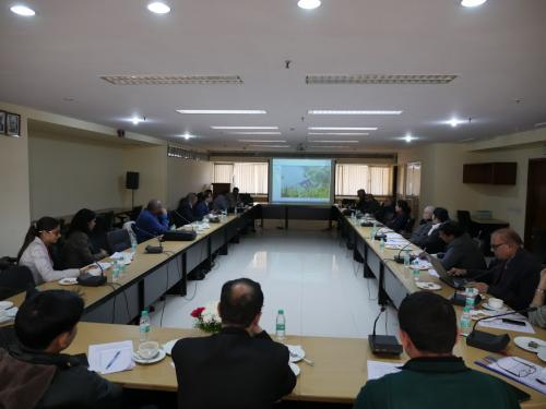 The workshop in progress at the Indian National Science Academy in New Delhi