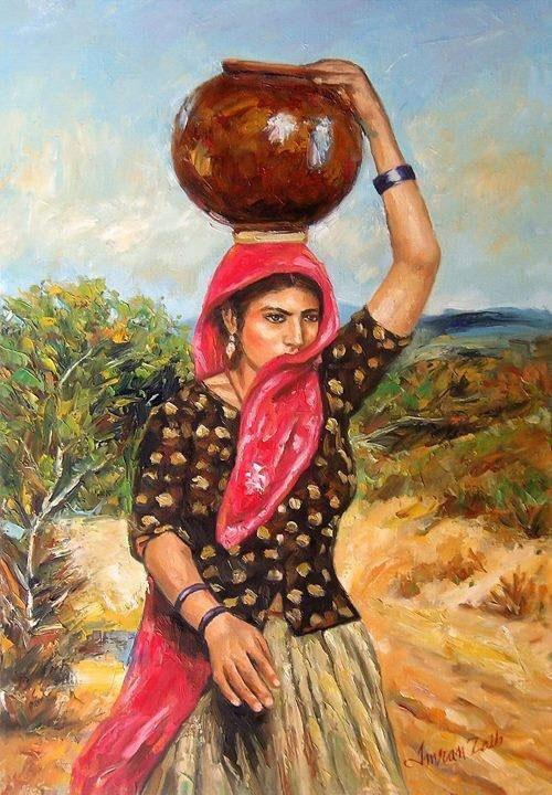 The imagery of women fetching water from a well is so powerful that it has been liberally exploited in Indian mythology and devotional songs (Credit: Imran Zaib)