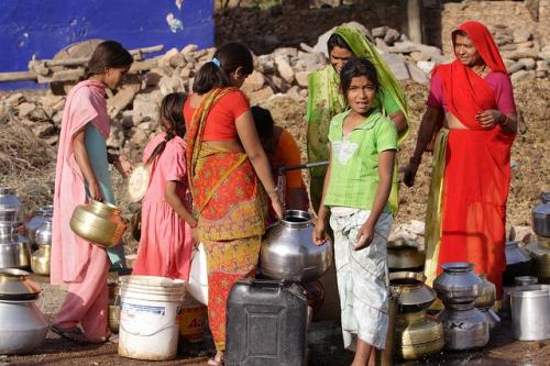 Fetching water is a woman's responsibility in this arid Rajasthan village