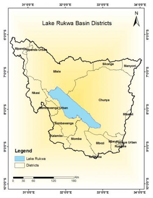 The alkaline Lake Rukwa is located midway between Lake Tanganyika and Lake Nyasa at a height of about 800 metres. Credit: Lake Rukwa Basin Water Board