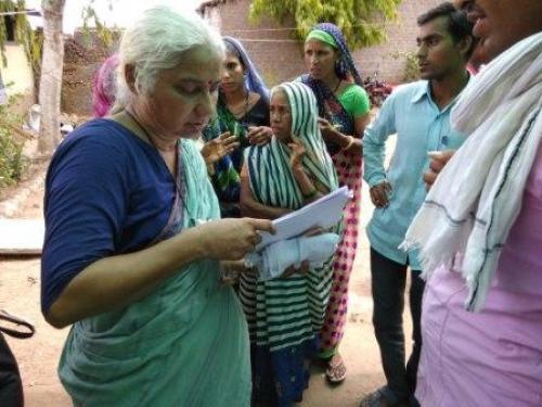 Social activist Medha Patkar has been at the forefront of the Narmada Bachao movement for 32 years Credit: Jitendra/CSE