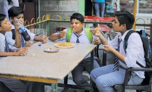 Availability of junk food is changing children's diet in India
