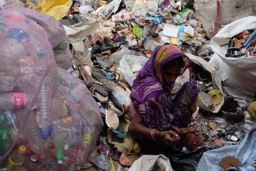 A day in a ragpickers' slum in New Delhi
