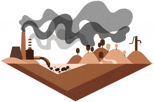 विकास की राख और धुआं