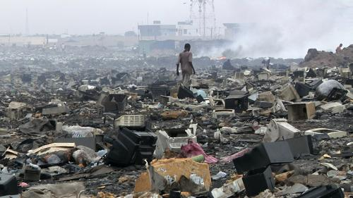 Stuffed inside used vehicles, thousands of tonnes of e-waste reach Nigeria every year