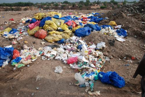 Protestors kick up a stink over landfill in Peshawar