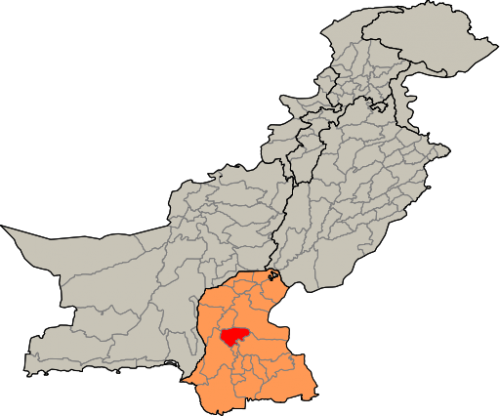 The location of Nawabshah in Sindh and Pakistan     Credit: Wikimedia Commons