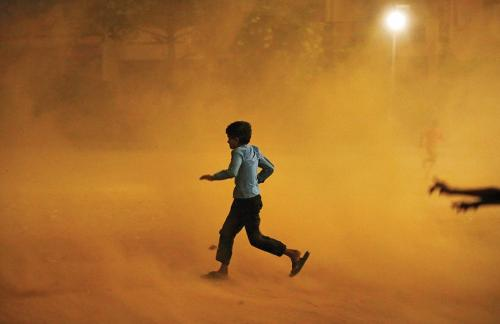 Delhi's average PM 10 levels were 8 times the permissible limit on June 13. Credit: Reuters