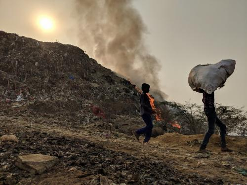 Raging fire in Bhalswa landfill chokes Delhi