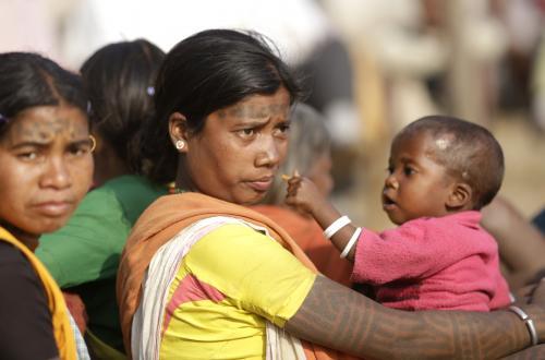 आधे से ज्यादा आदिवासियों ने घर छोड़ा