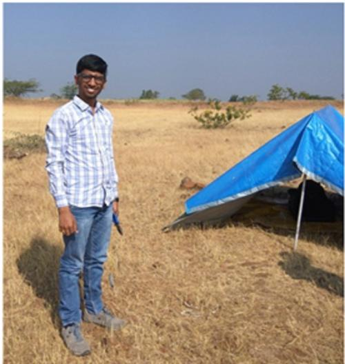 Nagarjuna Danda at his field camp. Photo: ISW