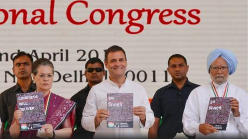 Congress manifesto promises jobs, welfare steps