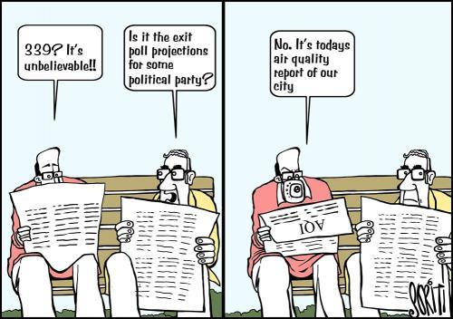 Delhi air quality index 'very poor'