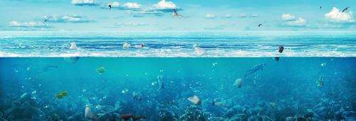 Microplastic in Atlantic: Ocean lab near Bermuda Triangle