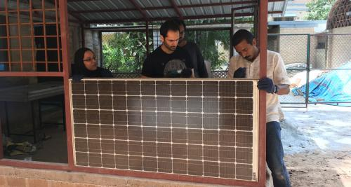Discarded solar panels can be used as building material