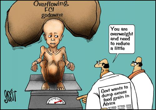 Govt wants to dump excess food grain in Africa