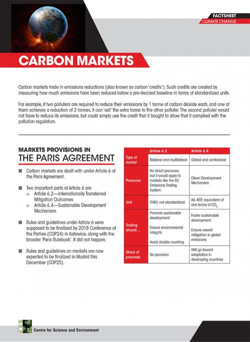 Climate Emergency CoP 25: What exactly are carbon markets?