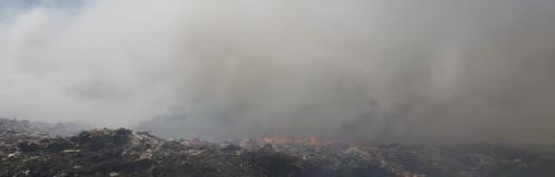 Jaipur landfill burns for weeks amid lockdown
