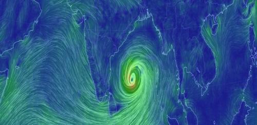 सागरद्वीप व हतिया द्वीप के बीच गिरेगा अंफान चक्रवात