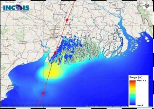 पश्चिम बंगाल और बांग्लादेश देश के तटीय क्षेत्र को पार कर आगे बढ़ा अंफान
