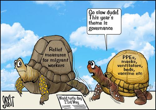 Simply put: Turtle pace