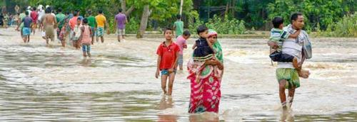 Concerns over social-distancing as floods affect 300,000 in Assam
