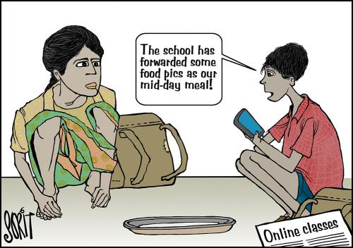 Simply put: Log on for mid-day meal