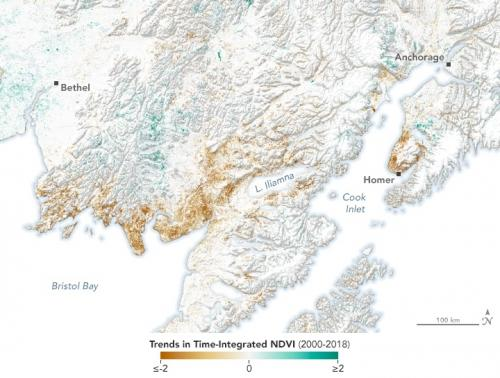जलवायु परिवर्तन बिगाड़ रहा अलास्का का ईकोसिस्टम
