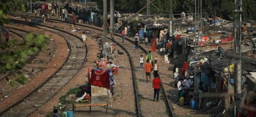 The Supreme Court on September 3, 2020, ordered the eviction of 48,000 slums along rail tracks in the national capital. The move could render some 250,000 people homeless. Here is a photo of slum settlements alongside the Sarai Rohilla railway station. Ph