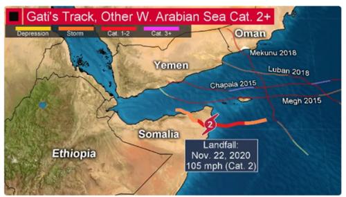 Cyclone Gati spurs locust outbreak threat in Somalia