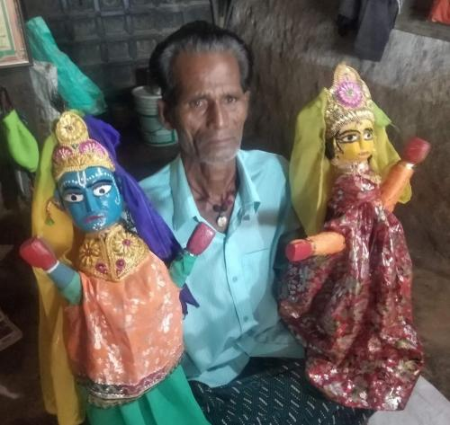 COVID-19 second wave: Livelihoods of Odisha's puppeteers hanging by a thread amid travel restrictions. Photo: Ashis Senapati