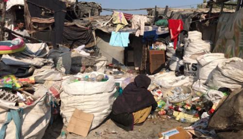 Bhalaswa village is home to 150 waste picker families.