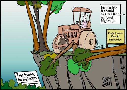 High-handed highways cartoon: Sorit Gupto