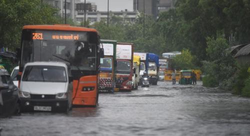 Dry spell ends but rains catch Delhi unprepared