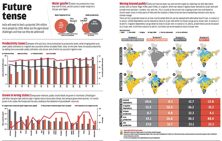 Data sources: Water Productivity Mapping of Major Indian Crops report by NABARD and ICRIER, and