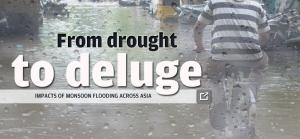 From drought to deluge: impact of monsoon flooding across Asia