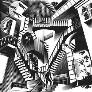 Just like the unending Penrose stairs, some researchers believe that the search for immortality is also illusive