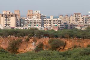 The rampant construction near Faridabad has led to degradation of the Aravalli ecosystem (All photos by Aoun Hasan)